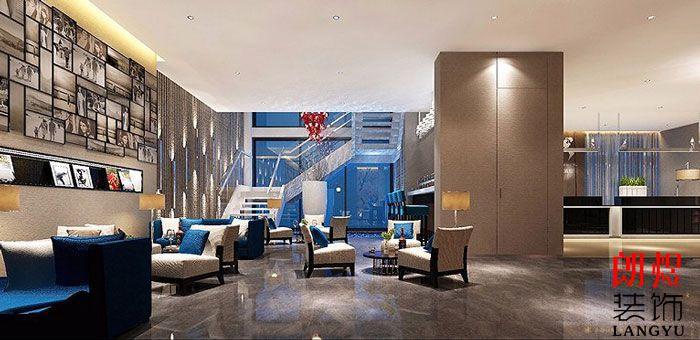 酒店设计案例大堂休息区