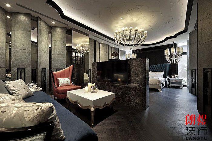 酒店设计方案客房小客厅