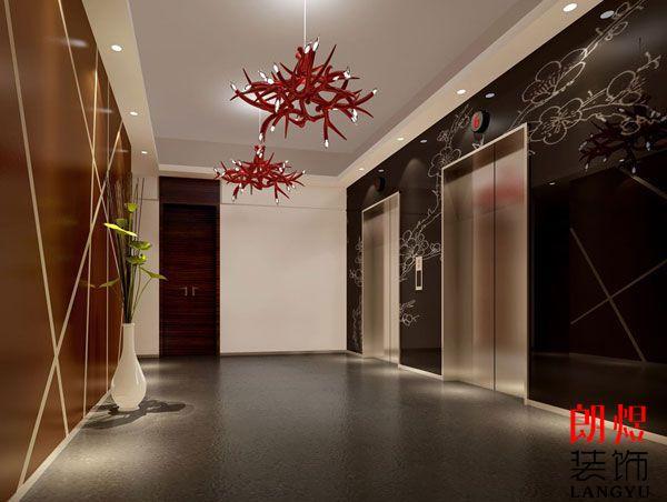 商务酒店装修电梯厅设计