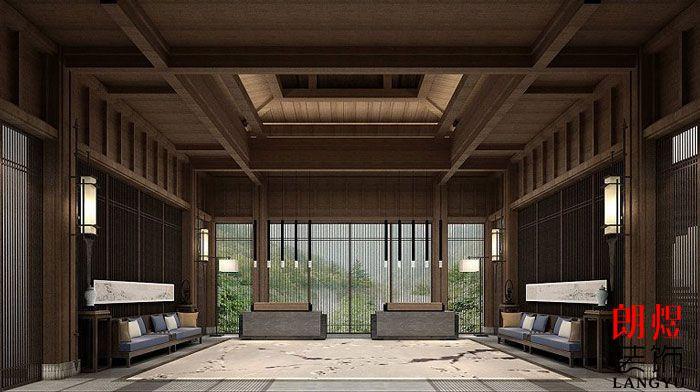 中式风格酒店设计大堂