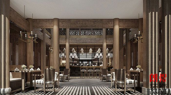 中式风格酒店设计大堂吧