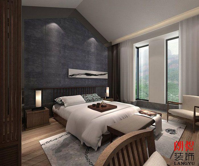 中式风格酒店设计单人客房
