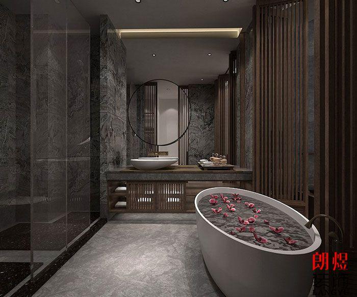 中式风格酒店设计客房浴室