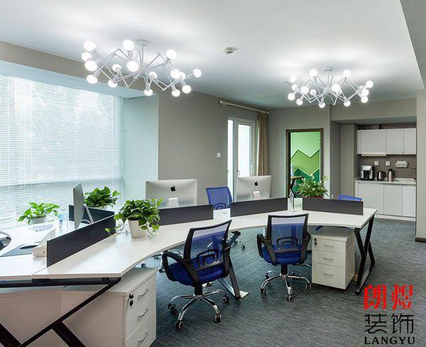 现代办公室装修公共办公区