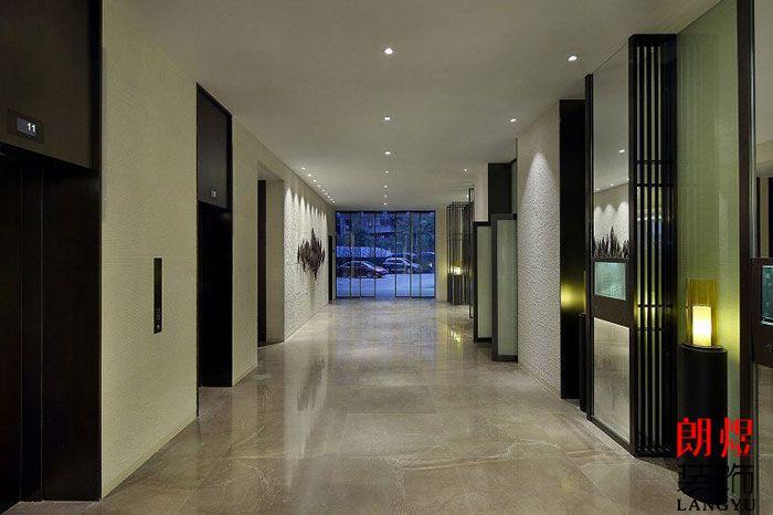 新中式酒店设计电梯厅