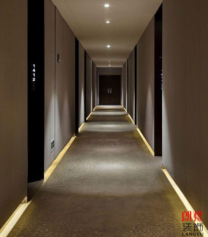 新中式酒店设计客房走廊