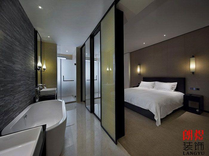 新中式酒店设计单人间客房