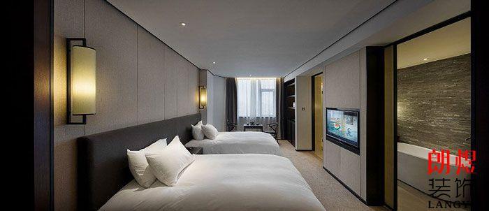 新中式酒店设计标准间客房