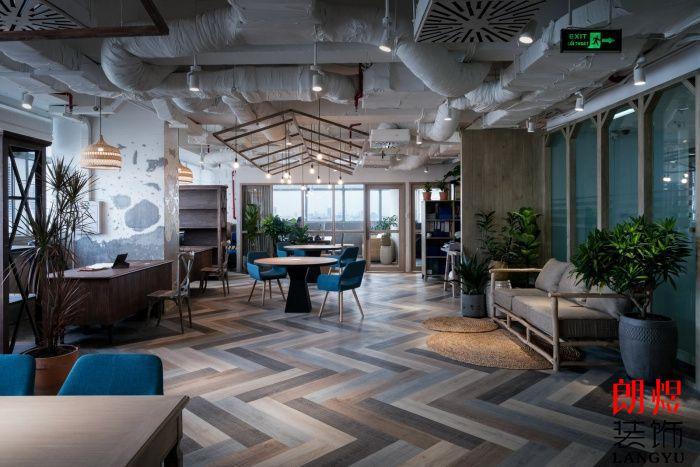 工业风工作室装修大厅空间