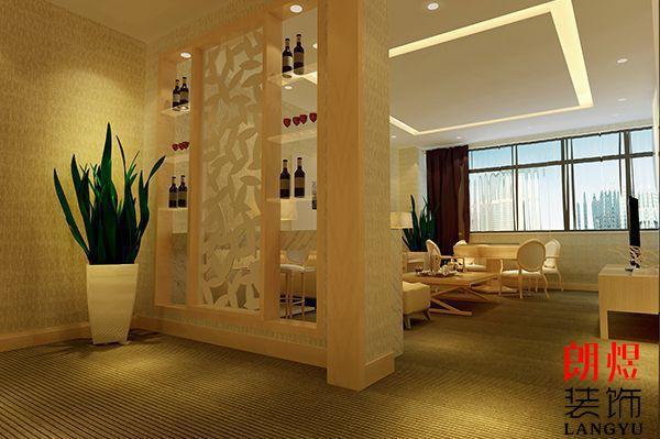 快捷酒店装修设计房间分隔