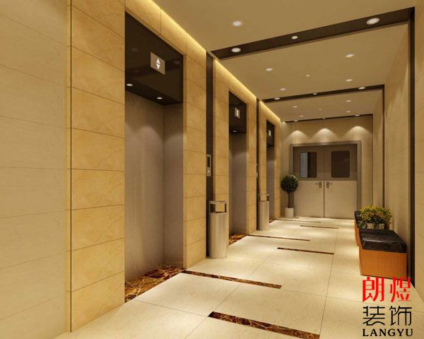 酒店电梯厅装修