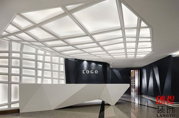 现代办公空间前台设计