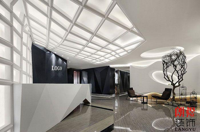 现代办公空间前台大厅