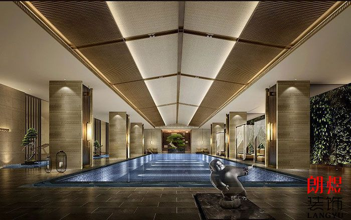 星级酒店装修设计-游泳池