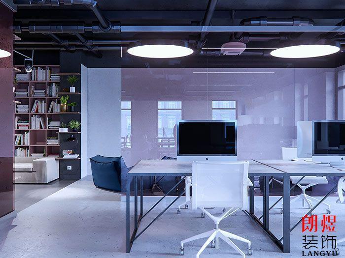 简约办公空间设计办公位