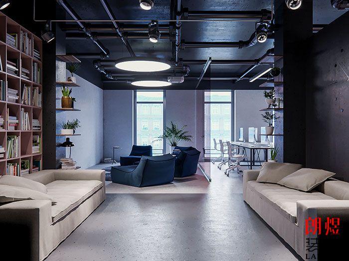简约办公空间设计休息区