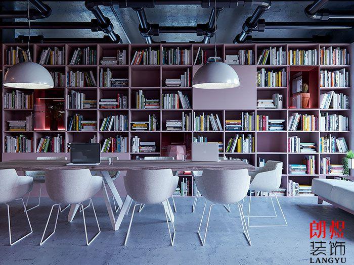 简约办公空间设计书架装饰