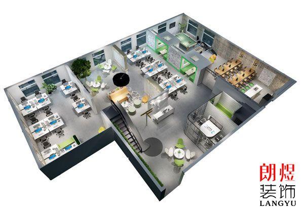 办公室设计鸟瞰图