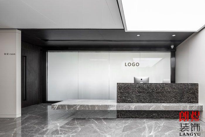 简约黑白风格办公室设计效果图
