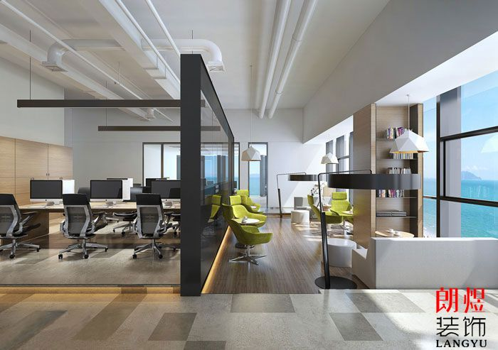 1000平方办公室装修