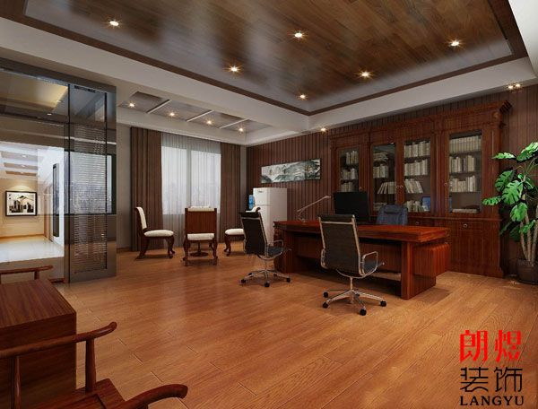 中式办公室装修设计