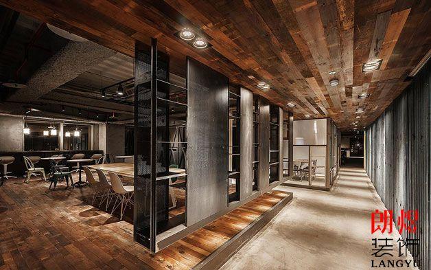 成都企业办公室装修工业风设计