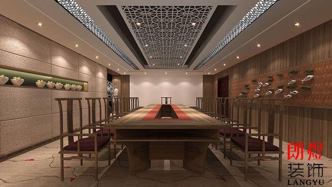 中式风办公室装修设计方案