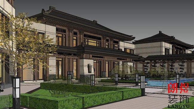 中式酒店建筑设计图