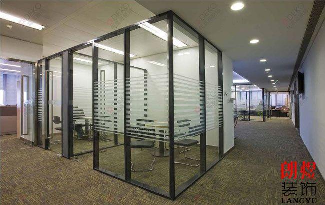 办公室装修透明玻璃隔断