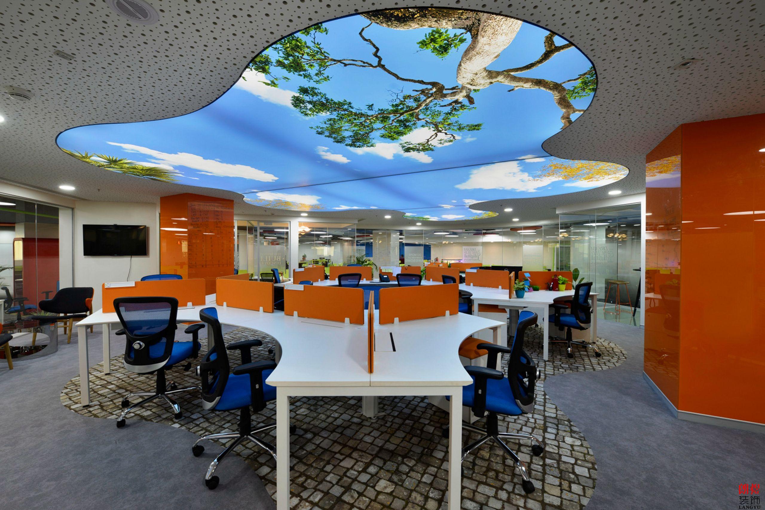 旧办公室装修,旧办公室设计,旧办公室效果图