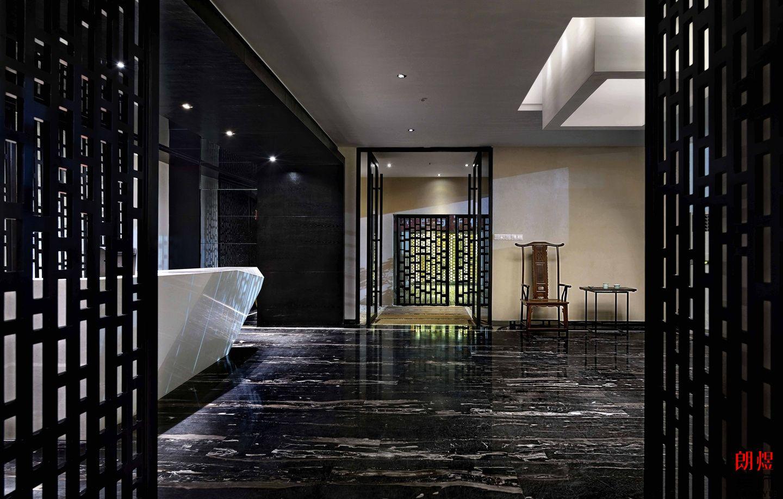 现代中式风办公室装修案例-成都朗煜公装公司案例