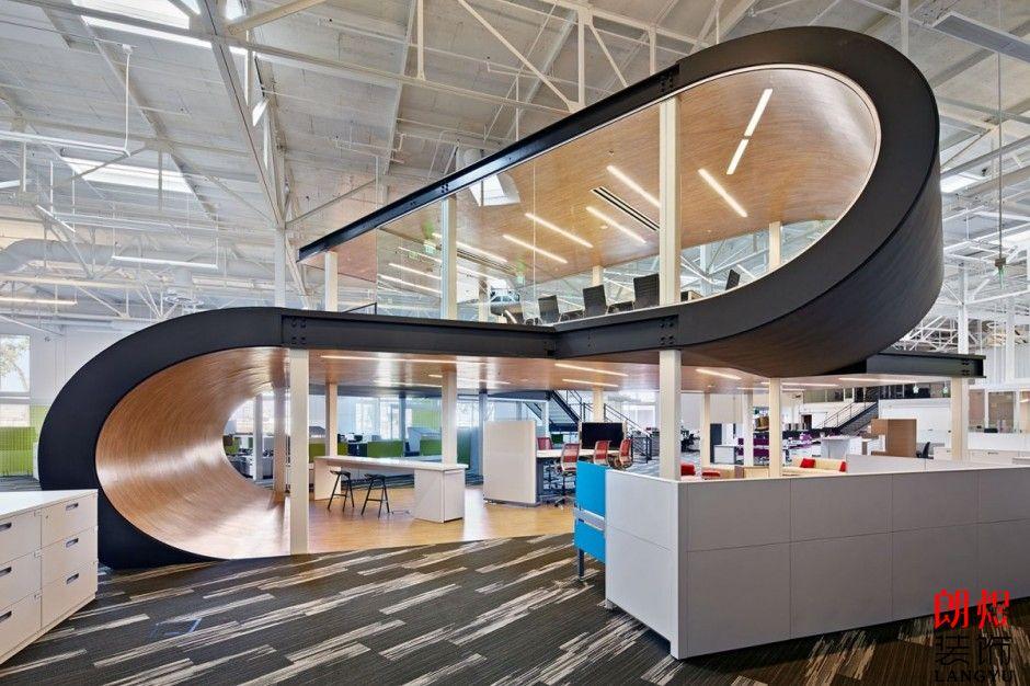 【办公室装修案例】创意办公室装修效果图