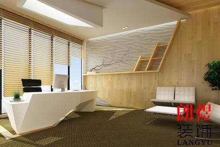 成都小型办公室装修总经理办公室效果图
