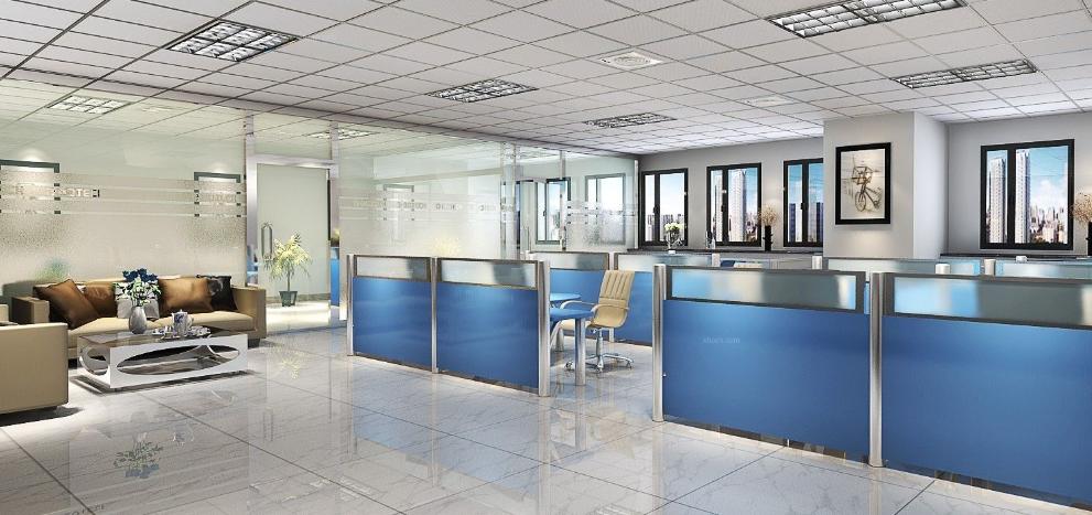 精!现代时尚办公室装修采光和基础因素结合精品免费教程