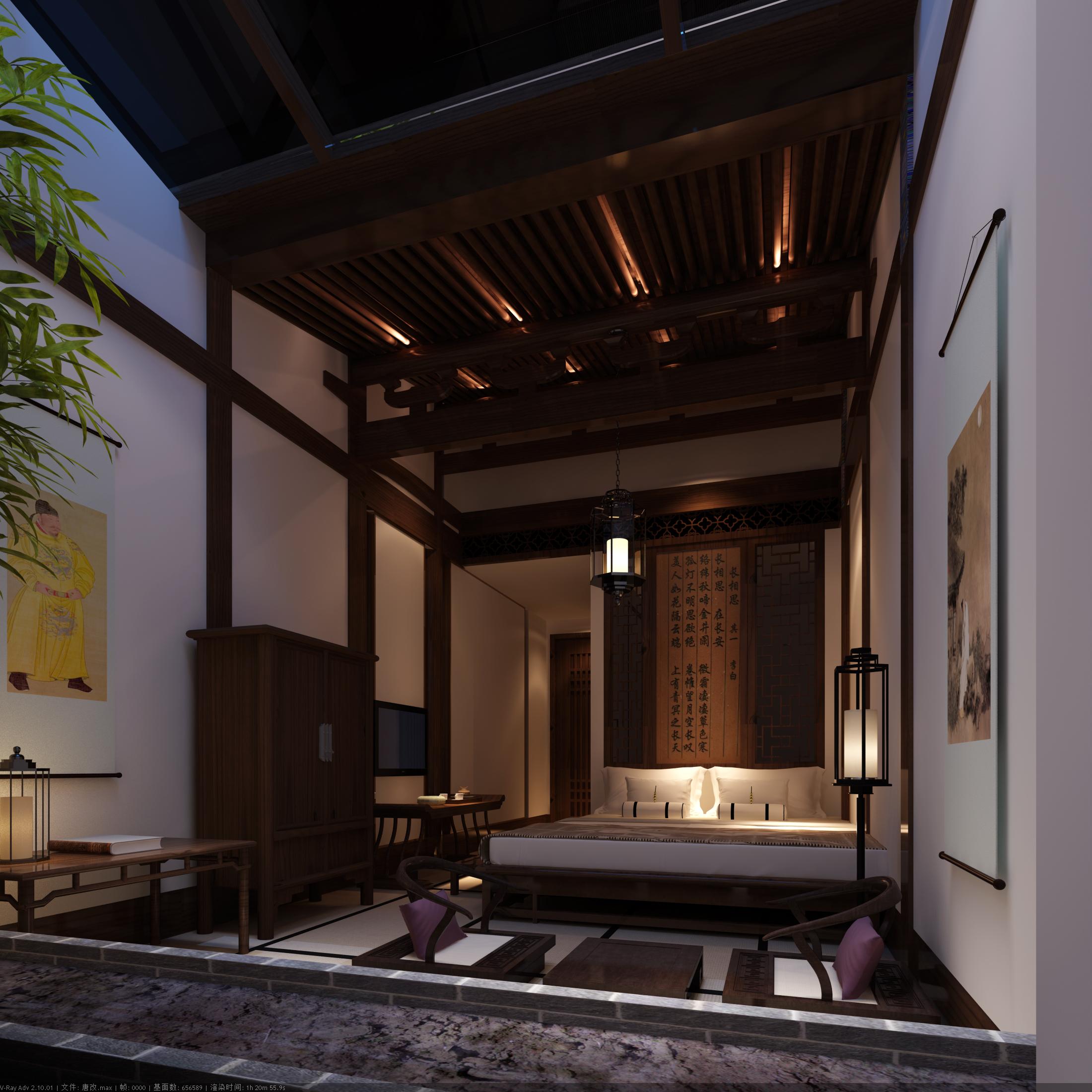 工装公司是这样装修酒店餐厅的酒店装修效果图_唐代风格
