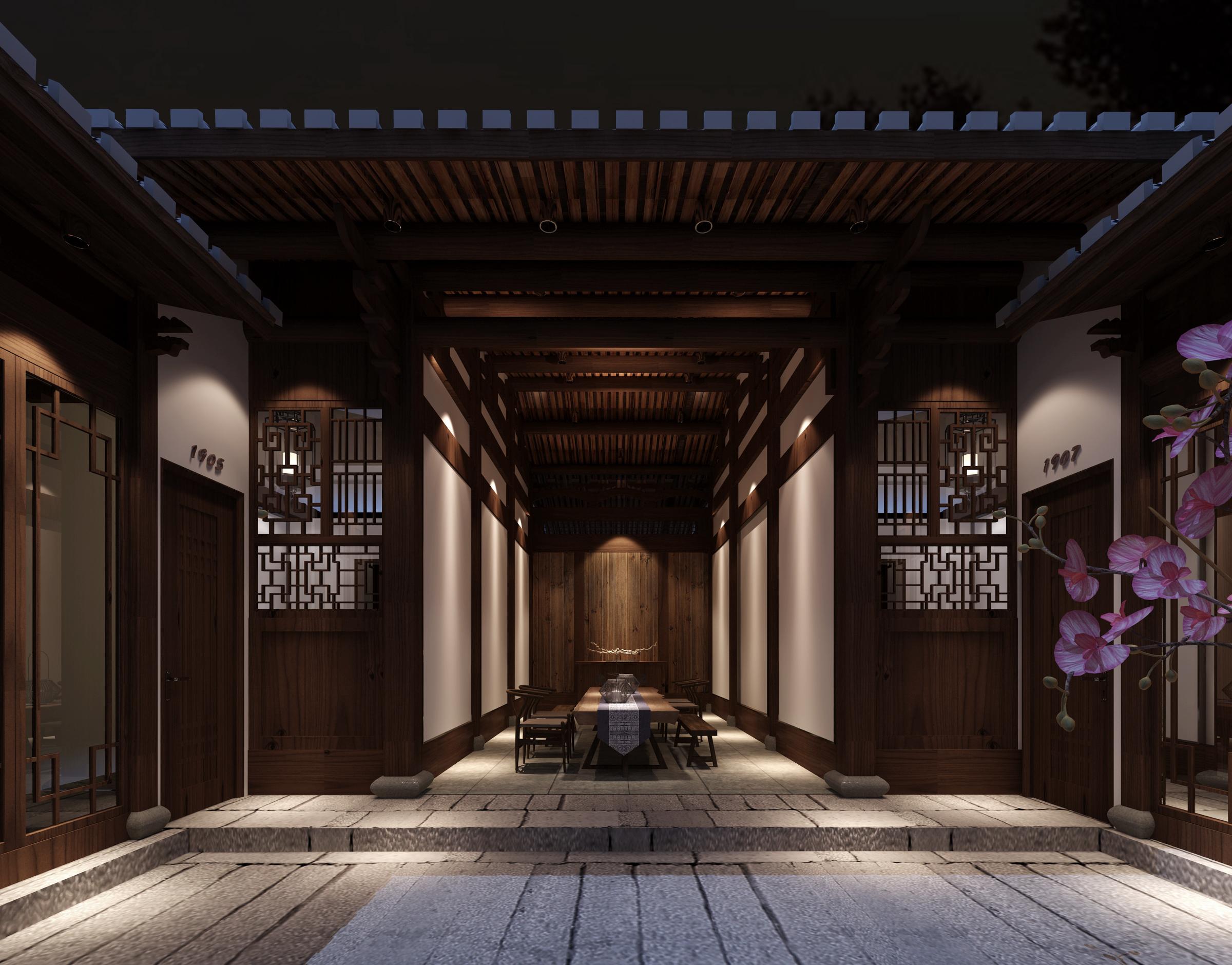 工装公司是这样装修酒店餐厅的酒店装修效果图_家庭房厅风格