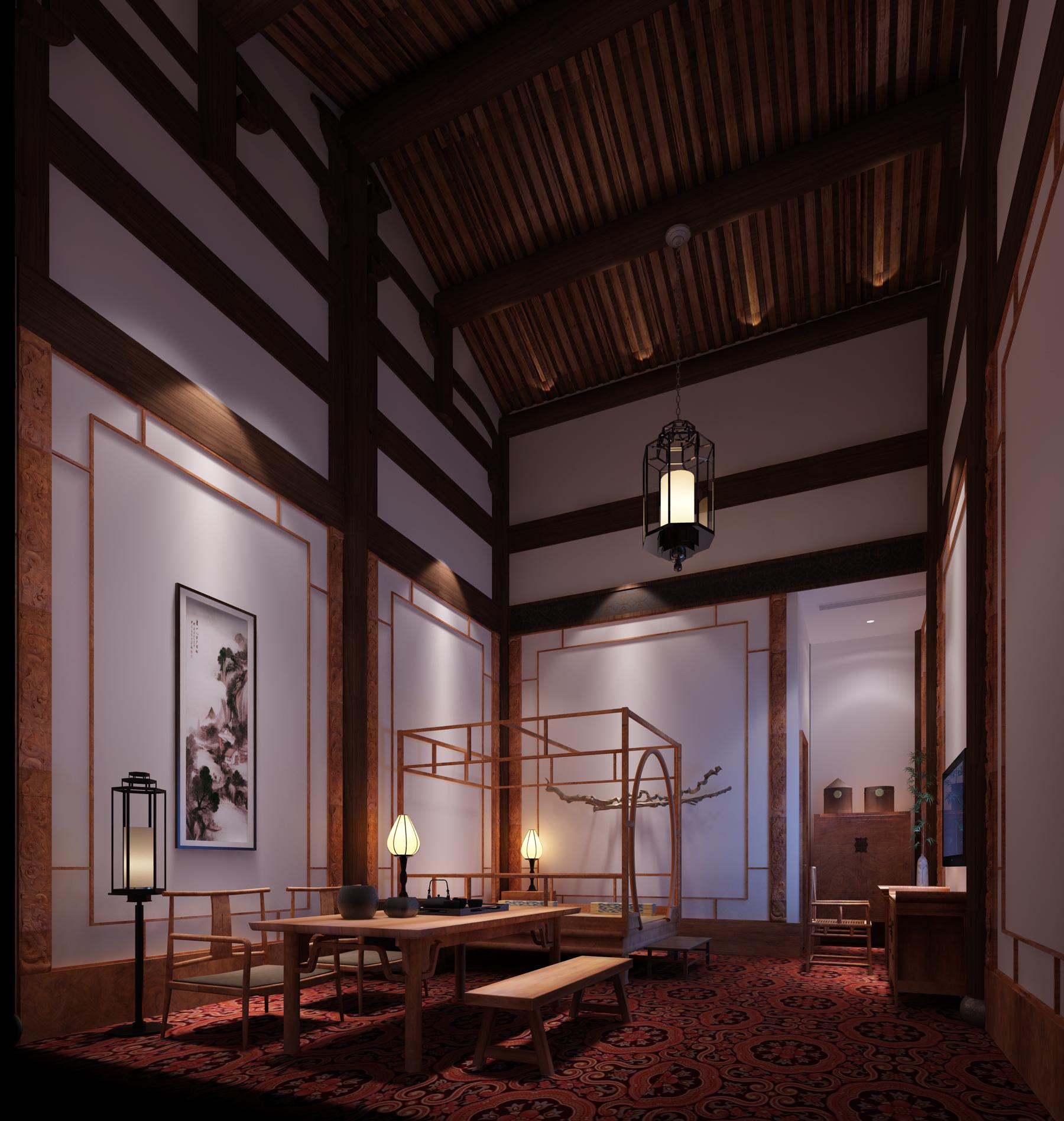 工装公司是这样装修酒店餐厅的酒店装修效果图_明代风格