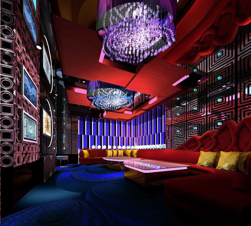 湖南灰汤华天城国际会议中心酒店装饰设计(网上资料)__KTV内室