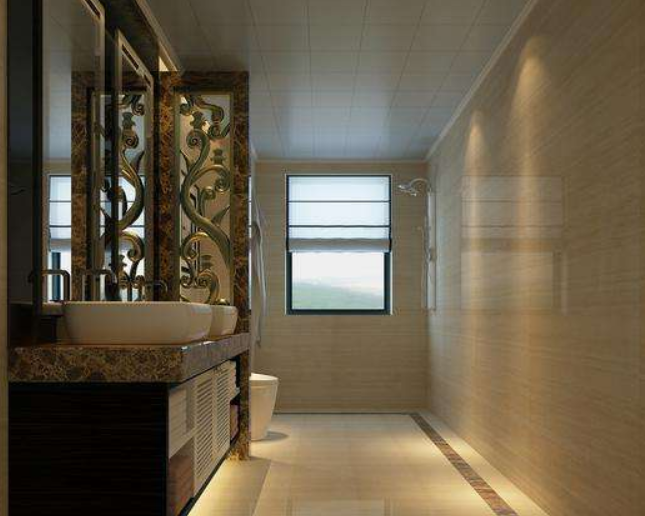 酒店装修洗手间效果图