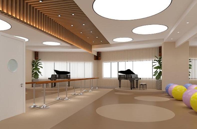 超清成都市高档教育辅导机构办公室装修效果图赏析