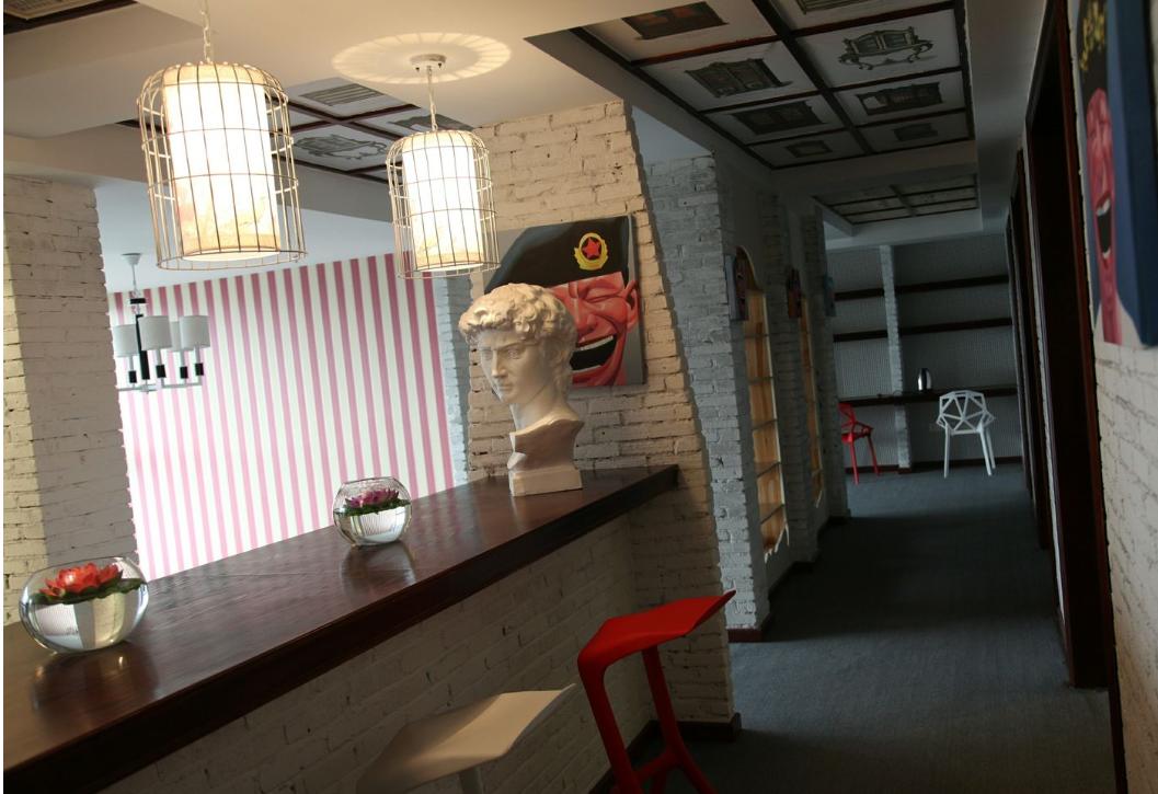 成都办公室装修注重艺术创意装修效果图