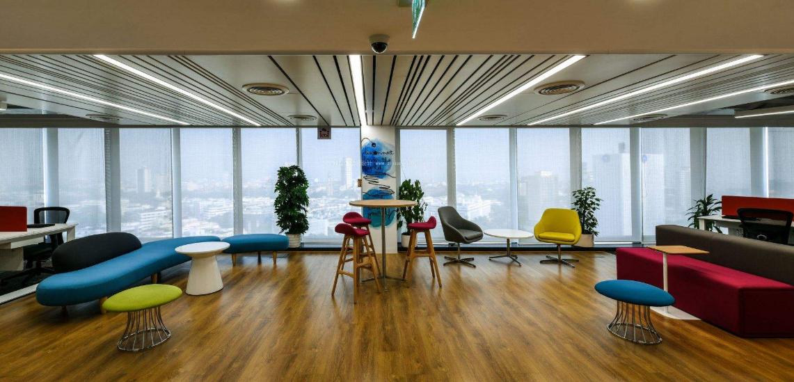 成都互联网办公室休息厅装修设计效果图