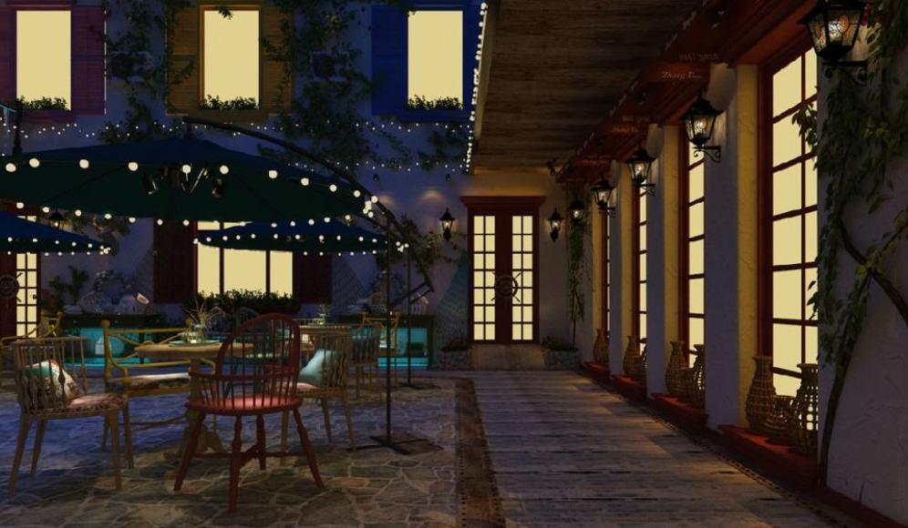各种风格融合休闲酒店装修效果图