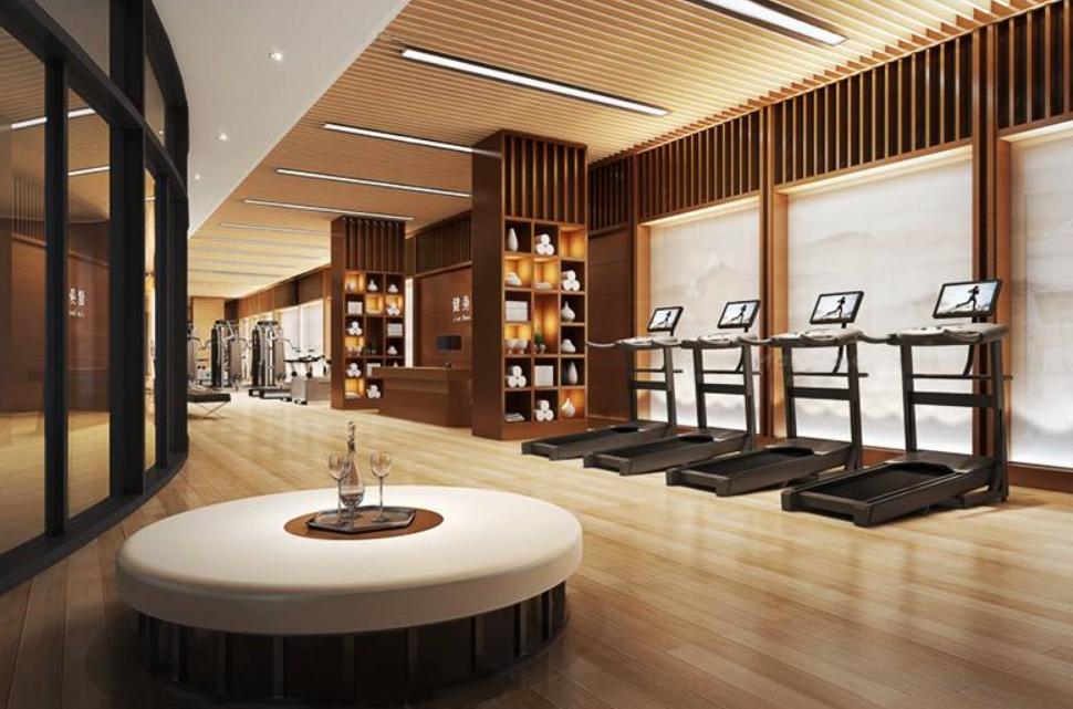 吸引人的成都简洁风格酒店健身房装修设计效果图