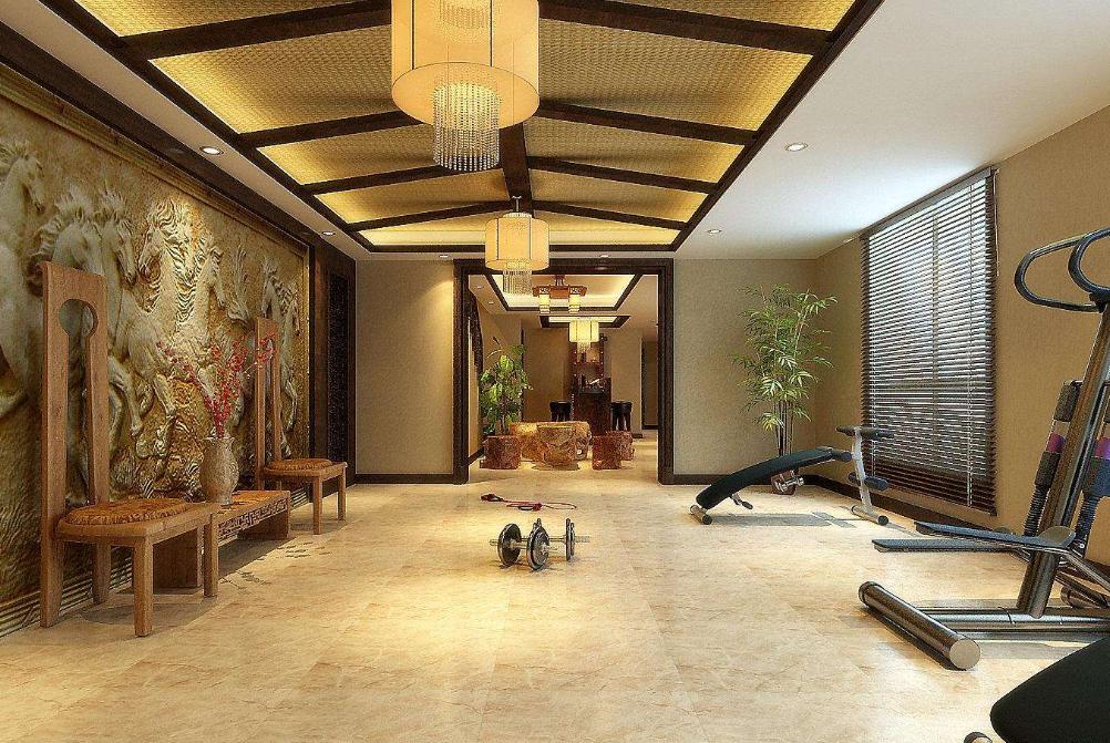 吸引人的成都主题风格酒店健身房装修设计效果图