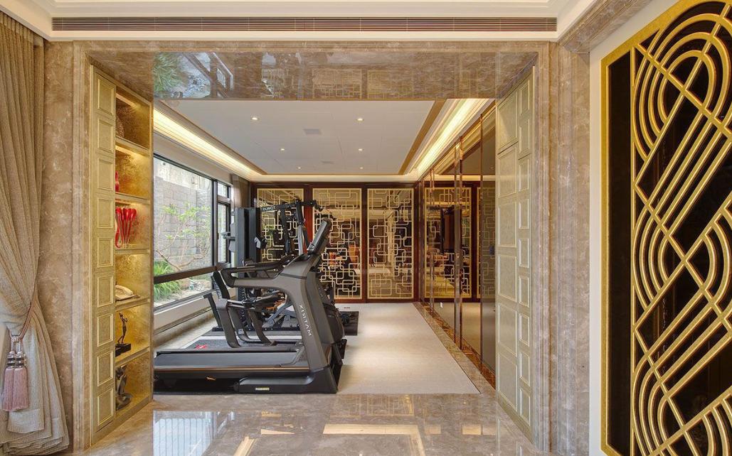 吸引人的成都奢华风格酒店健身房装修设计效果图