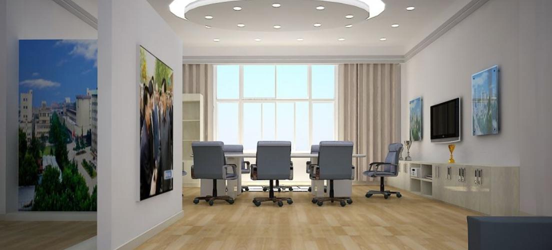 简约风格办公室布局设计装修效果图