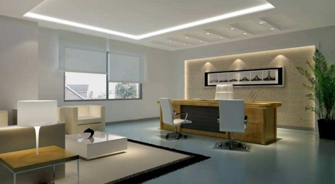 融入简约风格老板办公室装修设计效果图