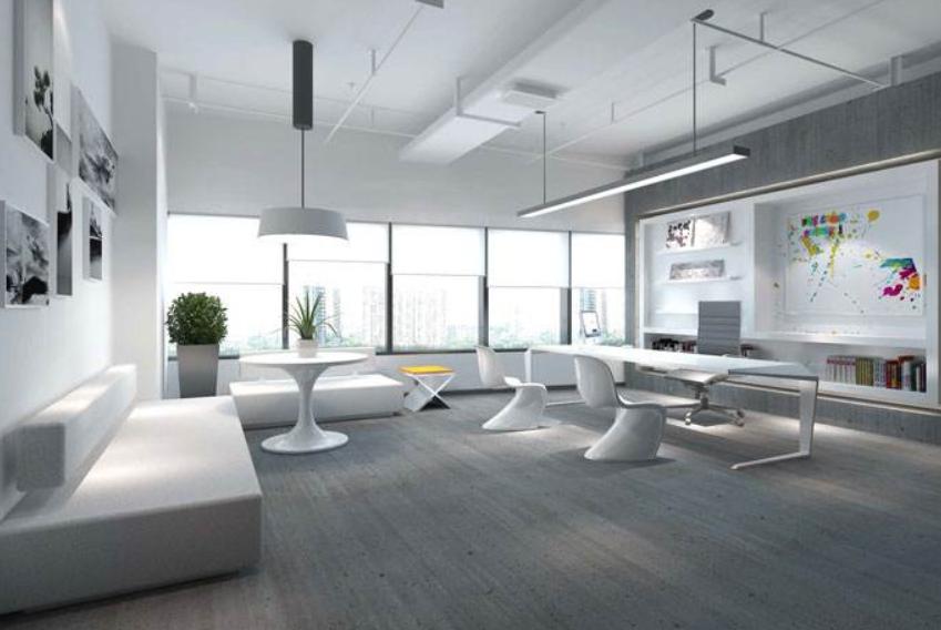 中式办公室装修之布局设计效果图