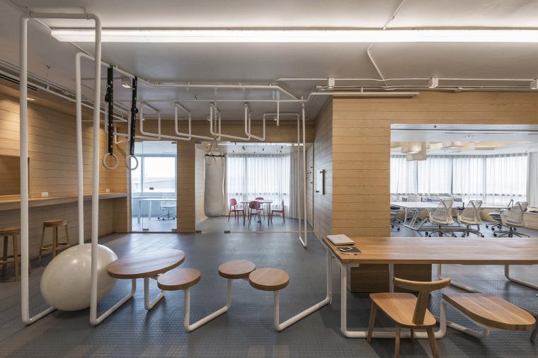 小型办公室装修 - 工位布置图
